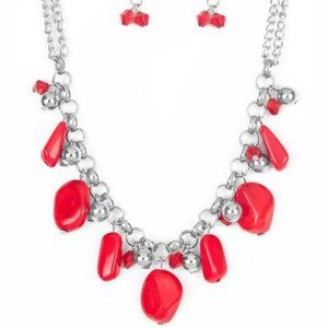 Grand Canyon Grotto – Red Necklace Earrings Set
